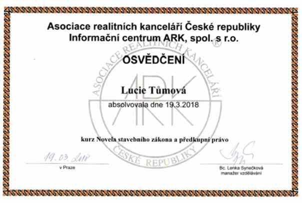lucie-tumova-certifikovany-realitni-makler-praha-novela-stavebniho-zakona-predkupni-pravo-ark-asociace-realitnich-kancelari